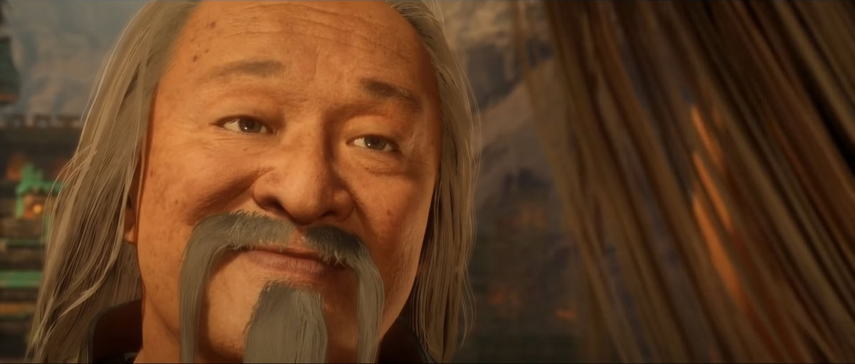 mortal kombat 11 in-game images-shang tsung innocent smile