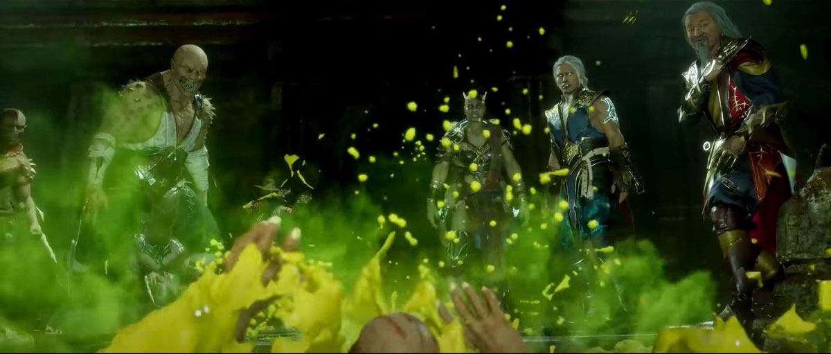 mortal kombat 11 in-game images-aftermath deadly green acide pool pit