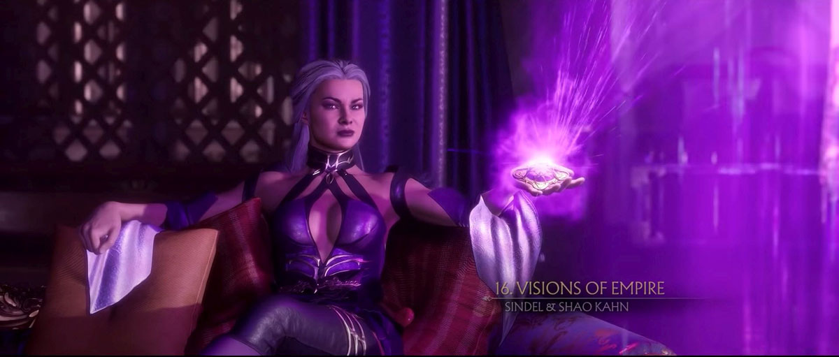 mortal kombat 11 in-game images-sindel's thoughts and plans