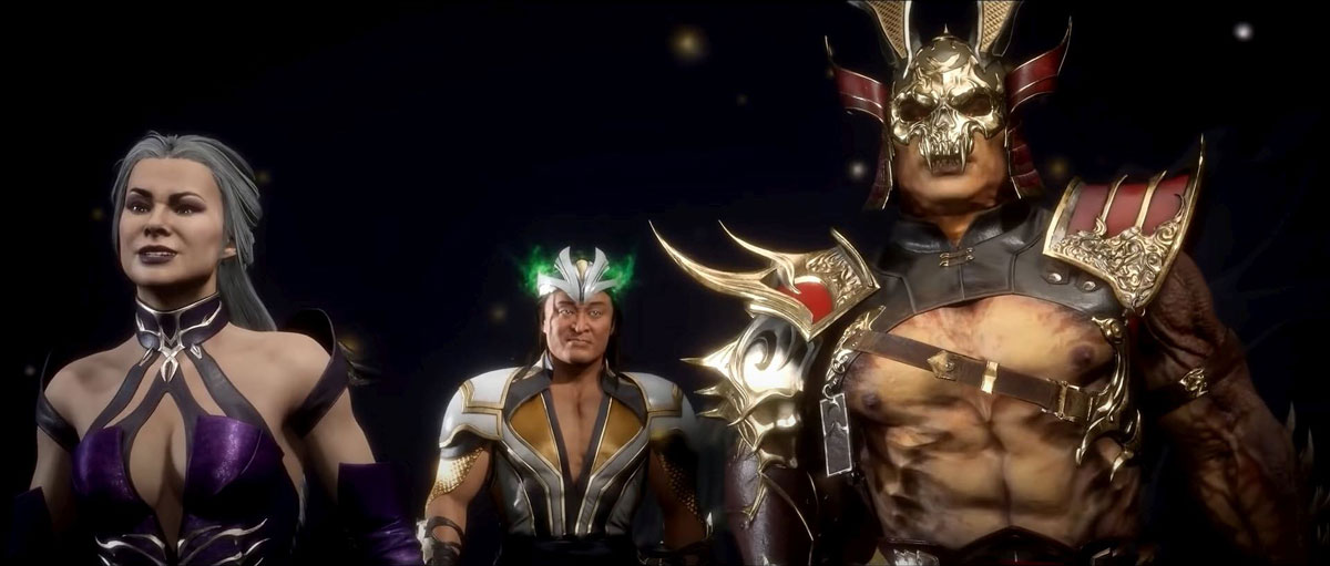 mortal kombat 11 in-game images-shang tsung's revenge on sindel and shao kahn