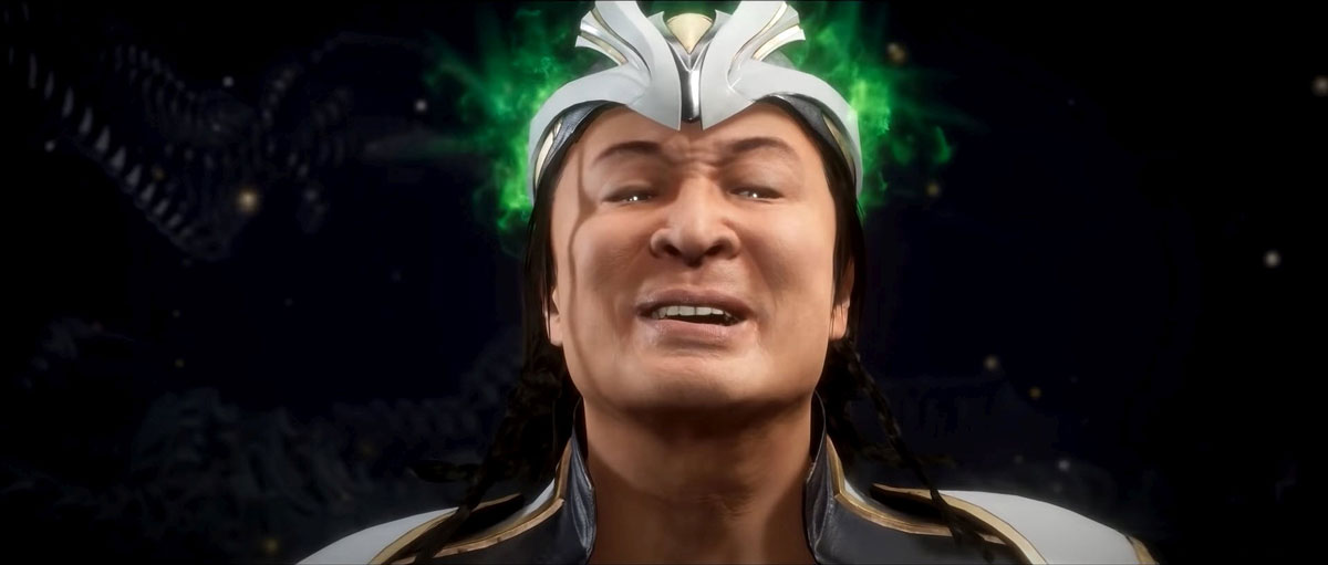 mortal kombat 11 in-game images-young shang tsung evil smile