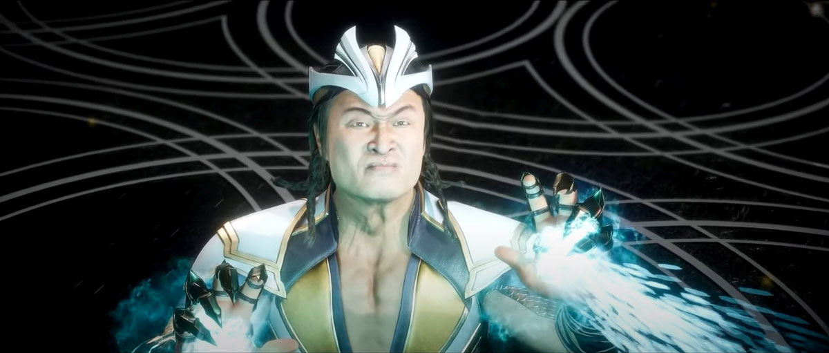 mortal kombat 11 in-game images-shang tsung sculps the sands of time by hourglass