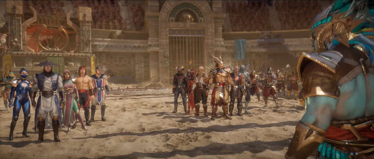 mortal kombat 11 in-game images-outworld colosseum arena